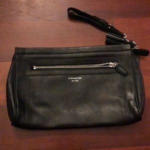 Coach Black Leather Clutch